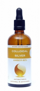 Natures Greatest Secret Amber Enhanced Colloidal Silver Dropper Bottle – 100ml