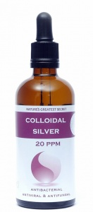Nature's Greatest Secret Enhanced Colloidal Silver Dropper Bottle - 100ml