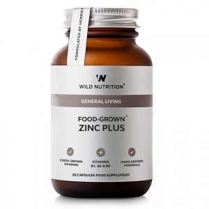 Wild Nutrition Food-Grown® Zinc Plus - 30 capsules