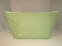 Handmade by Linzi Apple Green Linen Oilcloth Make-Up Bag
